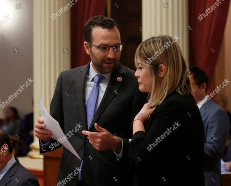 Ben Allen, Ling Ling Chang. State Sen. Ben Allen, D-Santa Monica, talks with Sen. Ling Ling Chang, R-Diamond Bar, at the Capitol in Sacramento, Calif., . Legislators have a Sept. 13 deadline to complete all business before the end of this year's legislative session