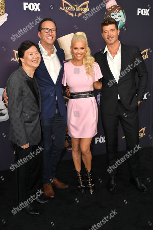Ken Jeong, Charlie Collier, Jenny McCarthy and Robin Thicke