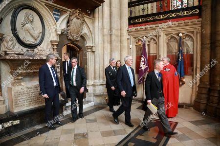 Former Prime Ministers Sir John Major and Gordon Brown
