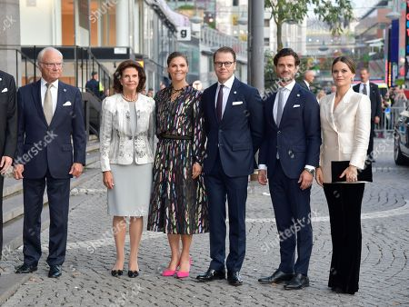 King Carl Gustaf with Queen Silvia, Crown Princess Victoria, Prince Daniel, Prince Carl Philip and Princess Sofia of Sweden