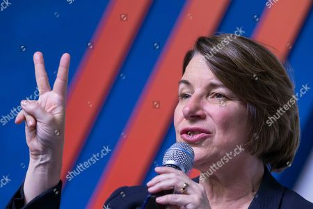 Democratic Senator from Minnesota and Democratic presidential candidate Amy Klobuchar participates in the Congressional Hispanic Caucus Institute's 2019 Leadership Conference Presidential Forum moderated by Jose Diaz Ballard at the Ronald Reagan Building in Washington, DC, USA, 10 September 2019.