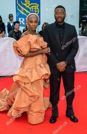 Cynthia Erivo (L) and US actor Zackary Momoh arrive for the premiere of the movie 'Harriet' during the 44th annual Toronto International Film Festival (TIFF) in Toronto, Canada, 10 September 2019. The festival runs from 05 September to 15 September 2019.