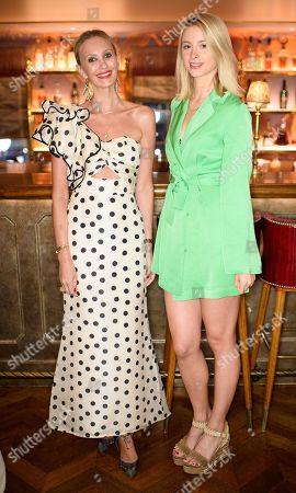 Hannah Strafford-Taylor and Isabel Getty