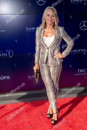 Nadia Comaneci attends the Laureus Fashion Show Gala featuring sports stars at Mercedes-Benz Manhattan, in New York