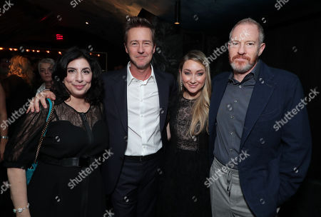 Sue Kroll, Edward Norton, Writer/Director/Producer, Blair Rich, President of Worldwide Marketing for Warner Bros. Pictures Group and Warner Bros. Home Entertainment, Toby Emmerich, Chairman of Warner Bros. Pictures Group