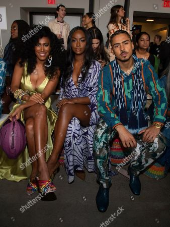 Moana Luu, Justine Skye, Quincy Taylor Brown. Moana Luu, from left, Justine Skye and Quincy Taylor Brown attend the Studio 189 runway show during NYFW Spring/Summer 2020 at Spring Studios, in New York