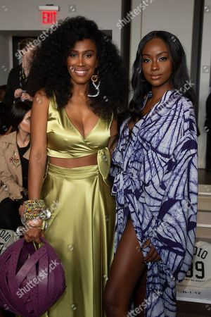 Moana Luu, Justine Skye. Moana Luu, left, and Justine Skye, right, attend the Studio 189 runway show during NYFW Spring/Summer 2020 at Spring Studios, in New York