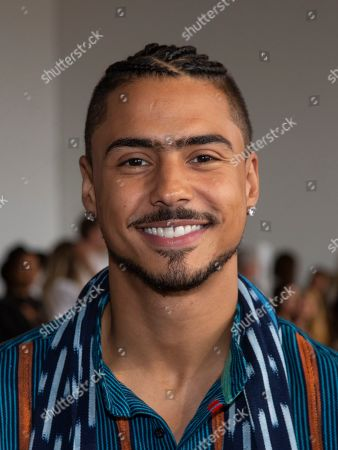 Actor Quincy Taylor Brown attends the Studio 189 runway show during NYFW Spring/Summer 2020 at Spring Studios, in New York