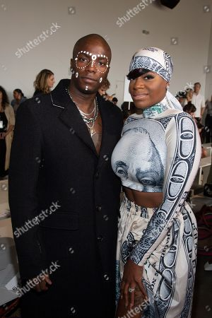 Young Paris, Fantasia Barrino. Recording artists Young Paris, left, and Fantasia Barrino, right, attend the Studio 189 runway show during NYFW Spring/Summer 2020 at Spring Studios, in New York