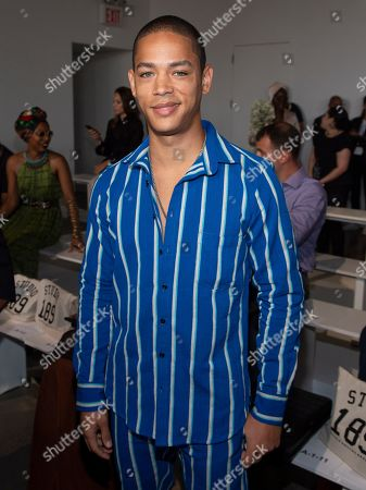 Jeremy L. Carver attends the Studio 189 runway show during NYFW Spring/Summer 2020 at Spring Studios, in New York
