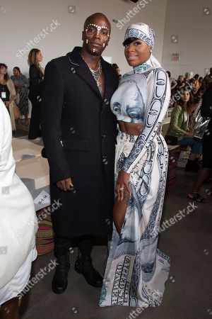 Young Paris, Fantasia Barrino. Recording artists Young Paris, left, and Fantasia Barrino, attend the Studio 189 runway show during NYFW Spring/Summer 2020 at Spring Studios, in New York