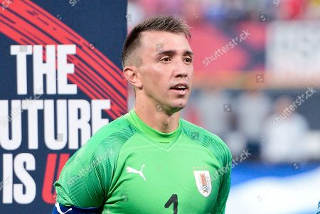 Uruguay goalkeeper Fernando Muslera (1) during the final match before the Concacaf Nations League as the United States Men's National Team hosted Uruguay at Busch Stadium in St. Louis City, MO Ulreich/CSM