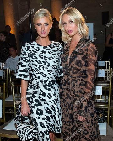 Nicky Hilton Rothschild, Princess Maria-Olympia of Greece and Denmark. Nicky Hilton Rothschild, left, and Princess Maria-Olympia of Greece and Denmark attend the Oscar de la Renta runway show during NYFW Spring/Summer 2020, in New York