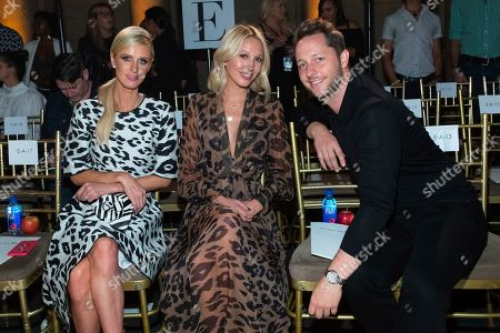 Nicky Hilton Rothschild, Princess Maria-Olympia of Greece and Denmark, Derek Blasberg. Nicky Hilton Rothschild, from left, Princess Maria-Olympia of Greece and Denmark, and Derek Blasberg attend the Oscar de la Renta runway show during NYFW Spring/Summer 2020, in New York