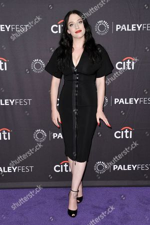 "Stock Image of Kat Dennings attends Hulu's ""Dollface"" screening and panel during the 2019 PaleyFest Fall TV Previews at The Paley Center for Media, in Beverly Hills, Calif"