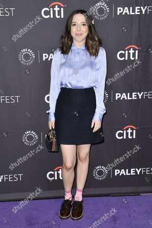 "Stock Photo of Esther Povitsky attends Hulu's ""Dollface"" screening and panel during the 2019 PaleyFest Fall TV Previews at The Paley Center for Media, in Beverly Hills, Calif"