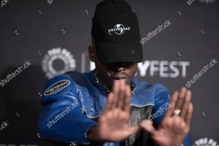"Stock Photo of Ashton Sanders attends Hulu's ""Wu-Tang: An American Saga"" screening and panel during the 2019 PaleyFest Fall TV Previews at The Paley Center for Media, in Beverly Hills, Calif"