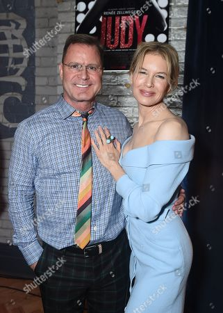 Stock Image of Renee Zellweger and Founder of LD Entertainment Mickey Liddell attend Roadside Attractions Judy Premiere and After Party