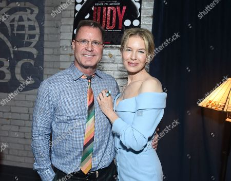 Stock Picture of Renee Zellweger and Founder of LD Entertainment Mickey Liddell attend Roadside Attractions Judy Premiere and After Party