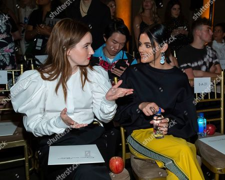 Kaitlyn Dever, Lucy Hale. Kaitlyn Dever, left, and Lucy Hale attend the Oscar de la Renta runway show during NYFW Spring/Summer 2020, in New York