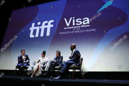 Edward Norton, Writer/Director/Producer, Gugu Mbatha-Raw, Willem Dafoe, Cameron Bailey, Artistic Director & Co-Head for TIFF