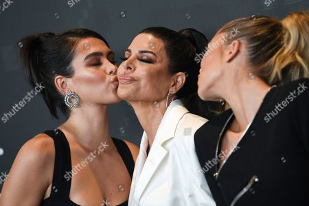 Amelia Gray Hamlin, Lisa Rinna, Delilah Belle Hamlin. Actress Lisa Rinna, center, poses with her daughters Amelia Gray Hamlin, left, and Delilah Belle Hamlin at the Spring/Summer 2020 Savage X Fenty show, presented by Amazon Prime, at the Barclays Center on Tuesday, Sept, 10, 2019, in New York