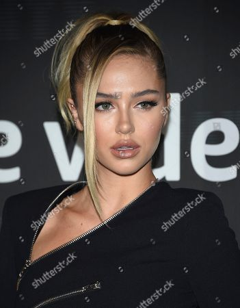 Stock Photo of Delilah Belle Hamlin attends the Spring/Summer 2020 Savage X Fenty show, presented by Amazon Prime, at the Barclays Center on Tuesday, Sept, 10, 2019, in New York
