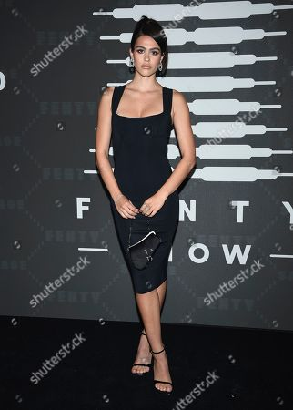 Amelia Hamlin attends the Spring/Summer 2020 Savage X Fenty show, presented by Amazon Prime, at the Barclays Center on Tuesday, Sept, 10, 2019, in New York