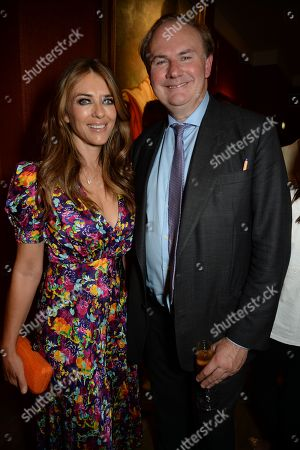 Stock Image of Elizabeth Hurley and William Cash