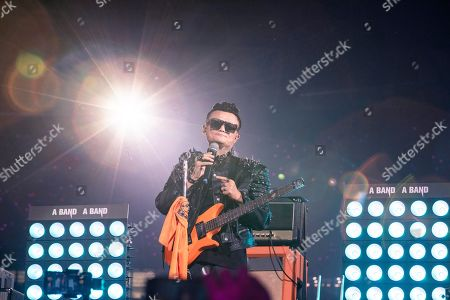 Jack Ma, founder and former Chairman of Alibaba Group, performs on the stage during a gala to celebrate the 20th anniversary of the e-commerce enterprise in Hangzhou, Zhejiang province, China, 10 September 2019 (issued 11 September 2019). Ma formally resigned from his position at the company on 10 September.