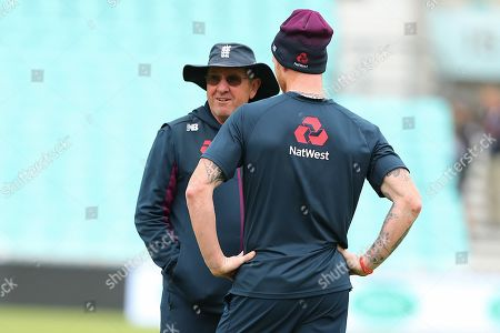 Trevor Bayliss Head Coach of England and Ben Stokes