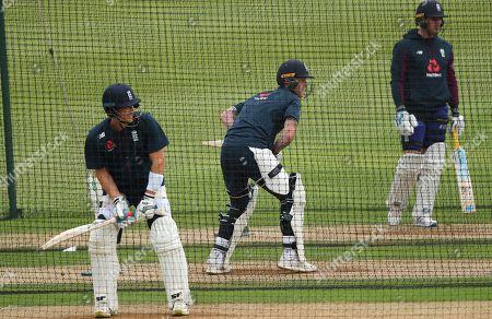 Stock Photo of Joe Denly, Ben Stokes and Jason Roy of England