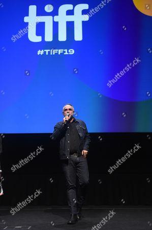 Director Karim Ainouz speaks on stage