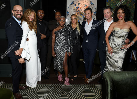 Stock Picture of Peter Kujawski, Chairman of Focus Features, Daniela Taplin, Producer, Zackary Momoh, Leslie Odom Jr., Cynthia Erivo, Kasi Lemmons, Writer/Director, Jason Cassidy, President of Marketing, Focus Features, Robert Walak, President of Focus Features, and Debra Martin Chase, Producer