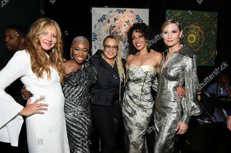 Daniela Taplin Lundberg, Producer, Cynthia Erivo, Kasi Lemmons, Writer/Director, Debra Martin Chase, Producer, and Jennifer Nettles