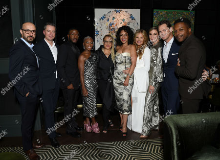 Peter Kujawski, Chairman of Focus Features, Robert Walak, President of Focus Features, Zackary Momoh, Cynthia Erivo, Kasi Lemmons, Writer/Director, Debra Martin Chase, Producer, Daniela Taplin, Producer, Jennifer Nettles, Jason Cassidy, President of Marketing, Focus Features, and Leslie Odom Jr