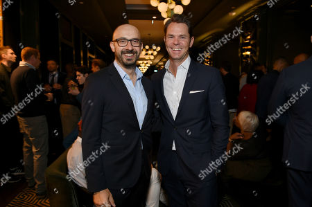 Stock Photo of Peter Kujawski, Chairman of Focus Features, and Jason Cassidy, President of Marketing, Focus Features