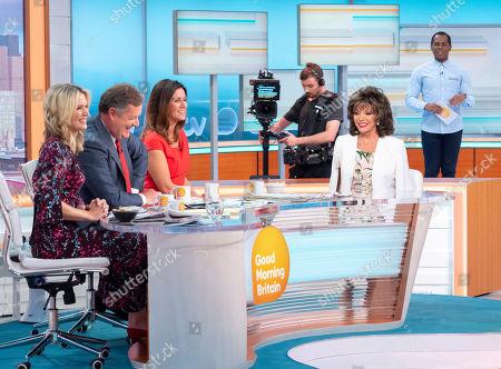 Charlotte Hawkins, Piers Morgan, Susanna Reid, Andi Peters with Dame Joan Collins
