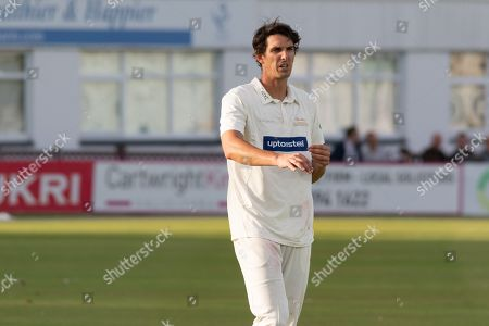 Chris Wright during the Specsavers County Champ Div 2 match between Leicestershire County Cricket Club and Northamptonshire County Cricket Club at the Fischer County Ground, Grace Road, Leicester