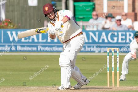 Richard Levi batting during the Specsavers County Champ Div 2 match between Leicestershire County Cricket Club and Northamptonshire County Cricket Club at the Fischer County Ground, Grace Road, Leicester