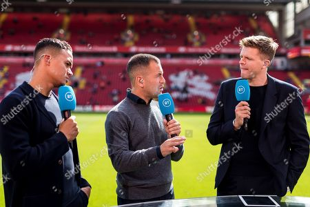 BT Sport TV commentators Jermaine Jenas, Joe Cole and Jake Humphries