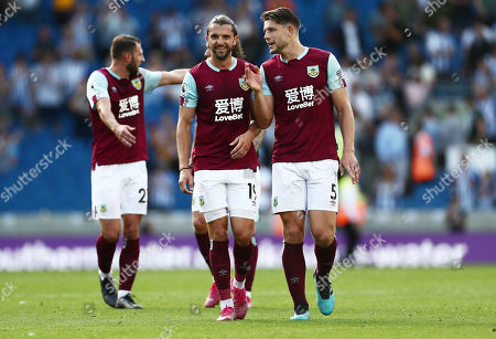 Jay Rodriguez and James Tarkowski of Burnley after the match.