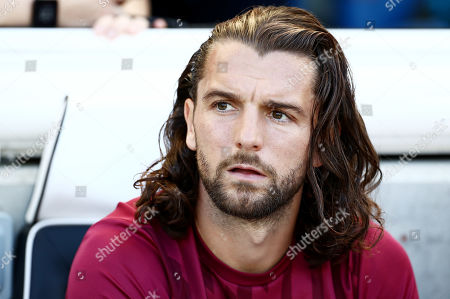 Jay Rodriguez of Burnley is seen on the bench.