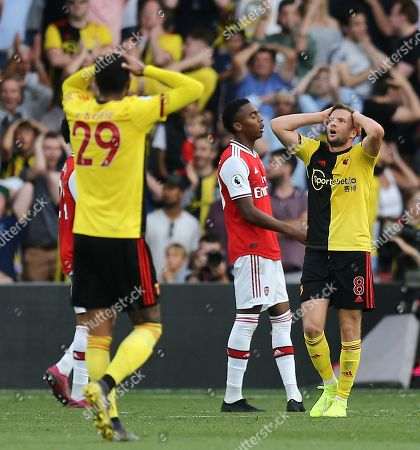 Tom Cleverley of Watford rues missed chance for Watford's  3rd goal