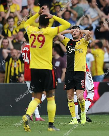 Tom Cleverley of Watford rues missed chance for scoring a winning goal