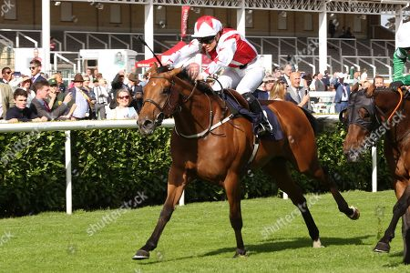 DUBAI ACCLAIM (4) ridden by Sammy Jo Bell and trained by Richard Fahey winning The Mondialiste Leger Legends Classified Stakes over 1m (£11,600)   during the opening day of the St Leger Festival at Doncaster Racecourse, Doncaster