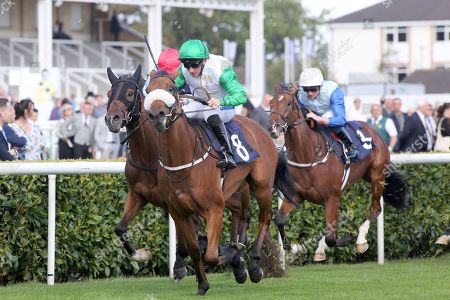 BRAVO FAISAL (8) ridden by Paul Hanagan and trained by Richard Fahey winning The Pepsi Max Nursery Handicap Stakes over 7f (£18,000)   during the opening day of the St Leger Festival at Doncaster Racecourse, Doncaster