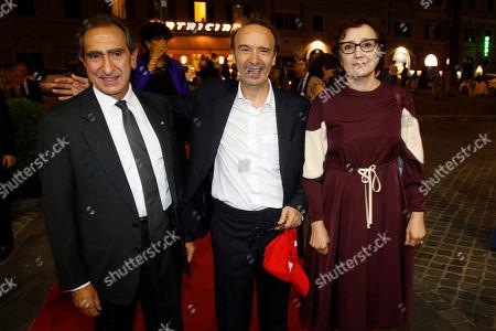 Carlo Fuortes, Roberto Benigni and wife Nicoletta Braschi