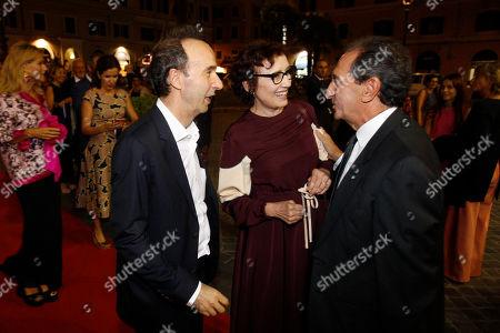 Roberto Benigni and wife Nicoletta Braschi, Carlo Fuortes
