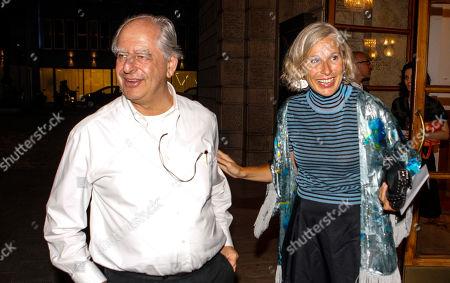 The director William Kentridge and Giovanna Melandri